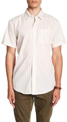 Brixton Lloyd Short Sleeve Stripe Print Woven Shirt