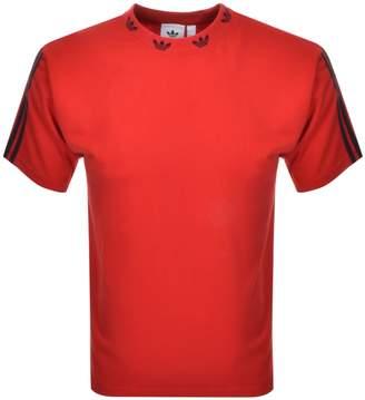 adidas Trefoil Rib T Shirt Red