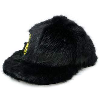 DSQUARED2 fur patch baseball cap