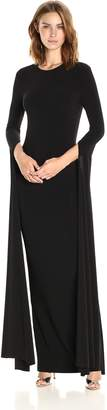 Norma Kamali Women's Open Back Ribbon Sleeve Fitted Gown