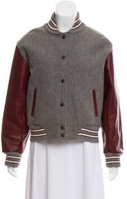 Rag & Bone Leather Baseball Jacket