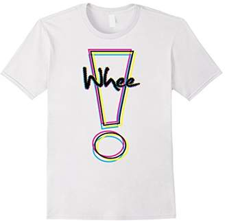 CMYK Graphic Whee! Exclamation Point T-Shirt
