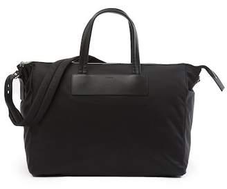 Theory EW Barron Nylon & Leather Trim Weekend Bag