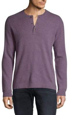Cashmere Jersey Henley Sweater