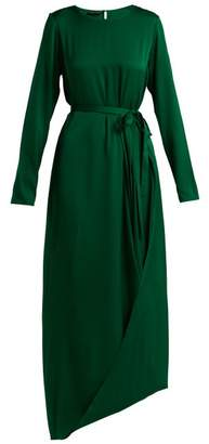 Carl Kapp - Topaz Silk Blend Asymmetric Dress - Womens - Green