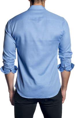 Jared Lang Men's Long-Sleeve Button-Down Shirt w/ Contrast Facing