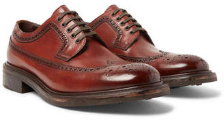 O'Keeffe Felix Polished-Leather Brogues