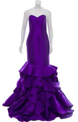 Jovani Strapless Ruffle-Accented Gown w/ Tags