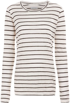 White Striped Aaron Long Sleeved Top