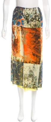 Jean Paul Gaultier Abstract Print Midi Skirt $95 thestylecure.com