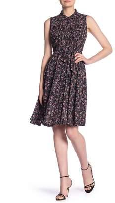 Nanette Lepore NANETTE Floral Button Front Shirt Dress