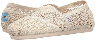 TOMS - Crochet Classics Women's Slip on Shoes $59 thestylecure.com