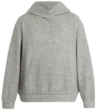 Raey Hooded Cashmere Blend Sweatshirt - Mens - Grey
