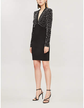 Givenchy Pearl-embellished crepe mini dress