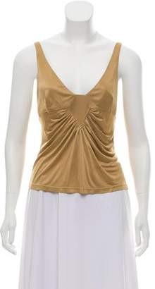 Versace Sleeveless V-Neck Top
