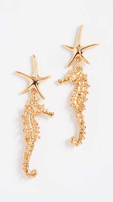 Oscar de la Renta Starfish Earrings