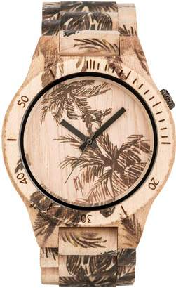 WeWood Men's Allium Palm Beige-Maple Scratch-proof Mineral Glass Watch WAPPB