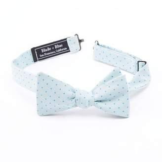 Blade + Blue Mint Blue Polka Dot Bow Tie