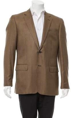 Valentino Silk & Virgin Wool-Blend Houndstooth Blazer