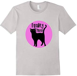 Equality Meow shirt cute feminist cat t-shirt cats feminism