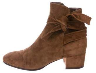 Gianvito Rossi Suede Ankle Boots Brown Suede Ankle Boots