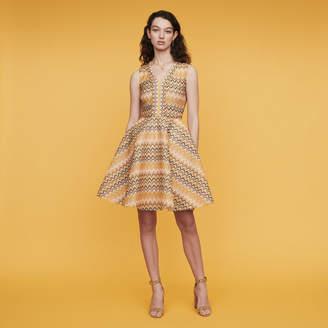 Maje Striped knit skater dress