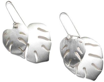 Arena CPH Tabitta Silver Leaf Earrings