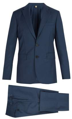 Burberry Soho Wool And Mohair Blend Suit - Mens - Blue