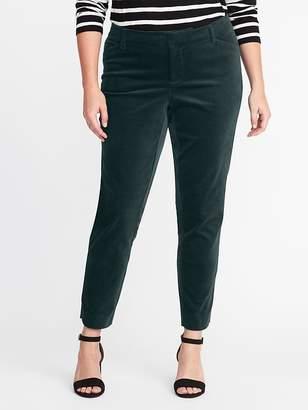 Old Navy Mid-Rise Secret-Slim Pockets Plus-Size Velvet Pixie Pants