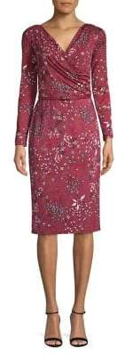 Max Mara Ruby Floral Belted Jersey Dress