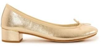 Repetto Camille Metallic Calf Leather High Heel Ballerinas