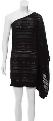 Herve Leger Short Sleeve Mini Dress Black Short Sleeve Mini Dress