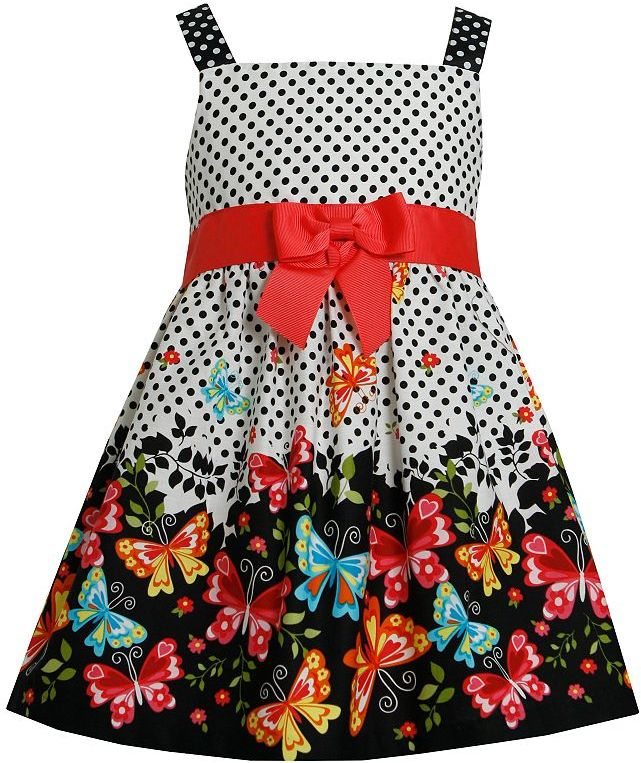 Bonnie Jean butterfly polka-dot sundress - toddler