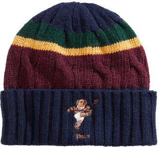 Polo Ralph Lauren Colorblocked Rugby Bear Hat