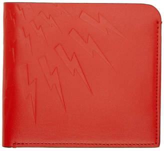 Neil Barrett Red Thunderbolt Wallet