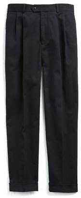 Todd Snyder Made in New York Italian Twill Double Pleated Pant in Navy