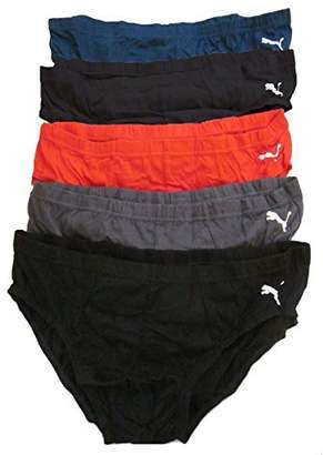 Puma Mens Sporty Low Rise Briefs 5 Pack
