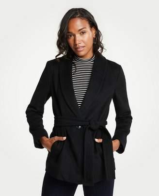 Ann Taylor Tall Shawl Collar Belted Coat