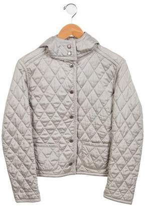 Burberry Girls' Hooded Puffer Jacket