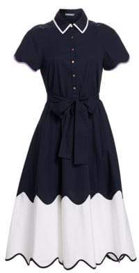 Lela Rose Tiered Wave Shirtdress