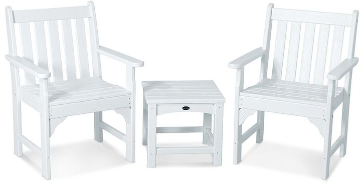 POLYWOOD® 3-pc. Vineyard Chair & Table Set - Outdoor