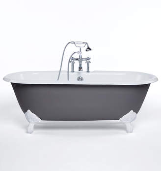 Rejuvenation 5-1/2' Double-Ended Clawfoot Tub with Gray Exterior
