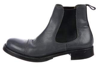Miu Miu Leather Chelsea Boots