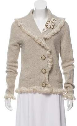 Oscar de la Renta Girls' Wool Knit Blazer