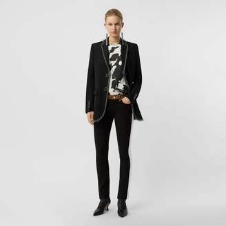 Burberry Ring-pierced Wool Tailored Jacket