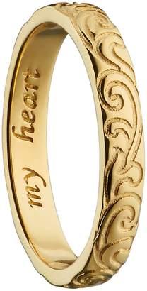 Monica Rich Kosann My Heart 18K Gold Poesy Ring