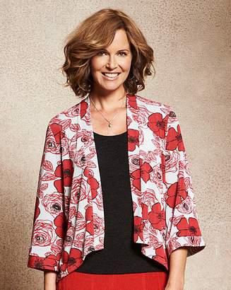 Fashion World Print Slinky Kimono Jacket