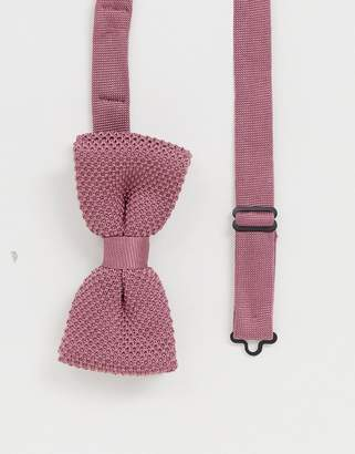 Twisted Tailor knitted bow tie in pink