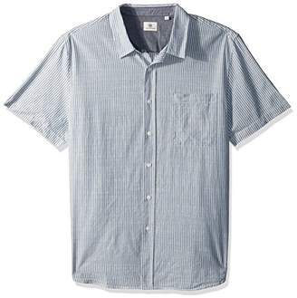 AG Adriano Goldschmied Men's Nash Short Sleeve Button Down