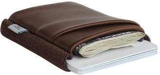"""Tgt """"Tight"""" TGT Slim Brown Leather Wallet """"Percolator Deluxe"""""""